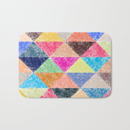 Color texture, Geometric background #2 Bath Mat