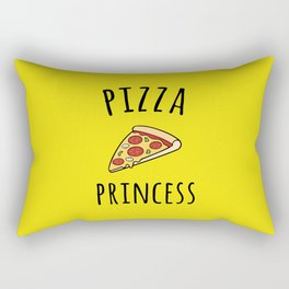 Pizza Princess Funny Quote Rectangular Pillow