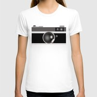 vintage camera T-shirts featuring Camera by LeahOwen