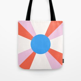 Retro Sun Rays - Mod Tones Tote Bag