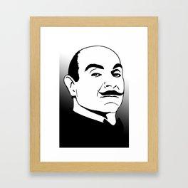 Hercules Poirot. Framed Art Print