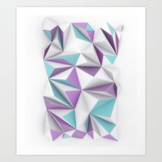 TRIANGLES//01 Art Print