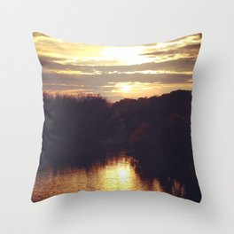 Columbiaville Sunset Throw Pillow