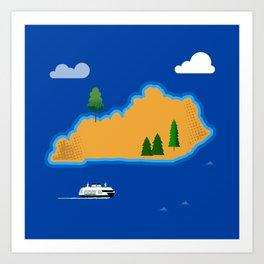 Kentucky Island Art Print