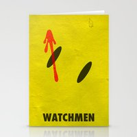 watchmen Stationery Cards featuring Watchmen - The Comedian by Fabio Castro