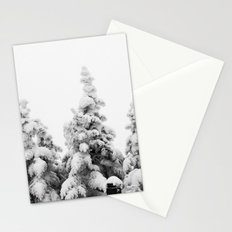 Snow Covered Pines Stationery Cards