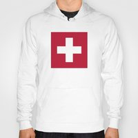 switzerland Hoodies featuring Switzerland Flag  by Laura Ruth