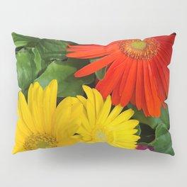Colorful Daisies Pillow Sham
