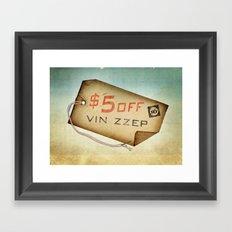 vin zzep Link Only Framed Art Print