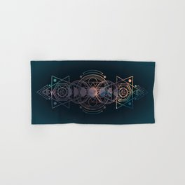 Dark Moon Phase Nebula Totem Hand & Bath Towel