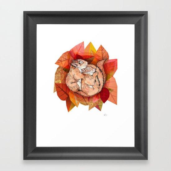 Squirrel Spoon Framed Art Print