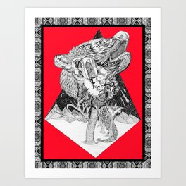 Depiction of Dependent Origination Art Print