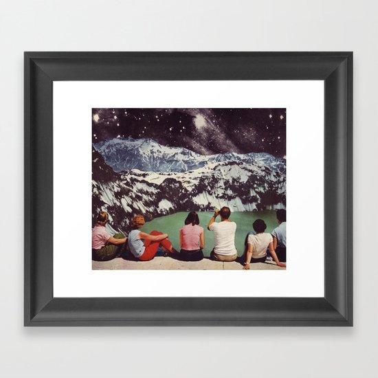 GLACIAL Framed Art Print