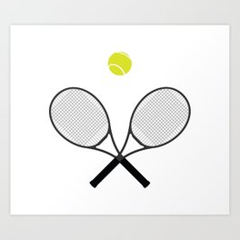 Tennis Racket And Ball 2 Art Print