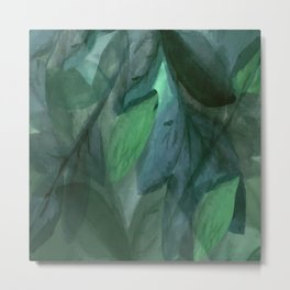 Shades of Evening Leaf Abstract Metal Print