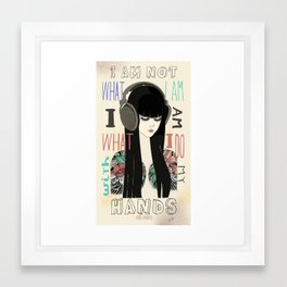 Niña Tattoo Framed Art Print