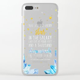 Star and Diamonds Clear iPhone Case