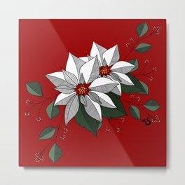 Holiday Flowers Metal Print