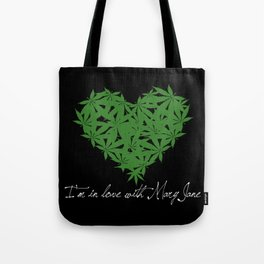 Mary Jane (white text) Tote Bag