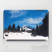 robin hood iPad Cases featuring Mt. Hood by Leah Flores