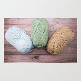 Trio of Yarn Rug