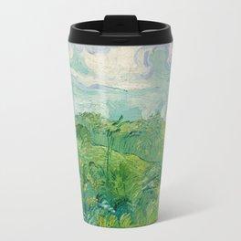Green Wheat Fields, Auvers, 1890, Vincent van Gogh Travel Mug