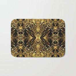 Beautiful Gold Brown  Traditional Pattern Bath Mat