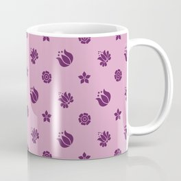 FLORAL MOTIF ON LAVENDER Coffee Mug