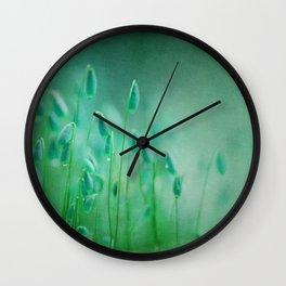 green microcosmos Wall Clock