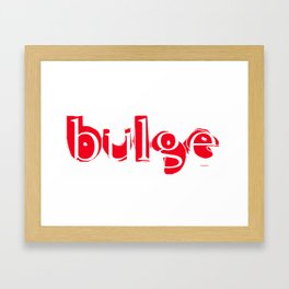bulge8 Framed Art Print