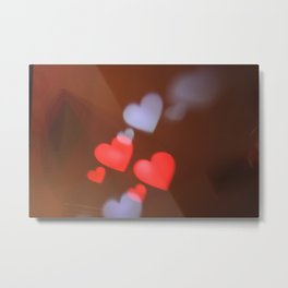 Light Hearts Metal Print