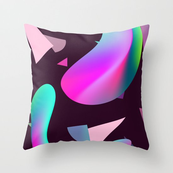 Types Of Decorative Pillow Shapes : Move - gradient shape pattern Throw Pillow by J.MK Society6