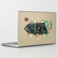 noir Laptop & iPad Skins featuring The Ominous and Ghastly Mont Noir by Hector Mansilla