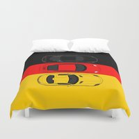german Duvet Covers featuring German Horsepower by Blayde