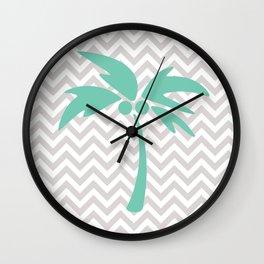 Tropical Chevron Wall Clock