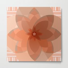 Neutral Circles - Beige Metal Print
