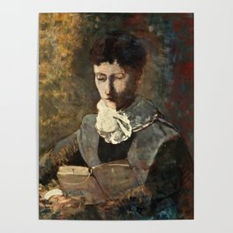 "Odilon Redon ""Madame Camille Redon lisant"" Poster"