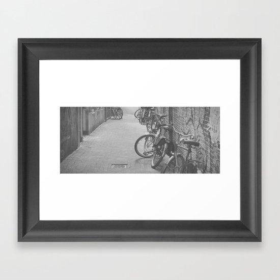 amsterdam bicycles... Framed Art Print