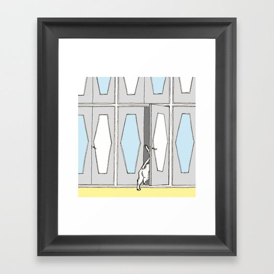 a place Framed Art Print