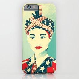 """Hmong Woman (original, full color) """"Peb Cov Neeg Txawj Sib Pab"""" iPhone Case"""