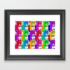Peace Out Pop art Framed Art Print