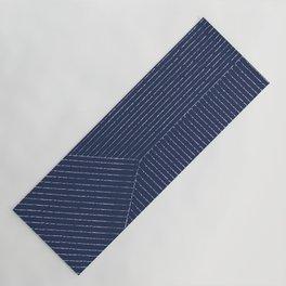 Lines / Navy Yoga Mat