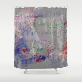 flower pattern color explosion Shower Curtain