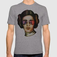 STAR WARS Princess Leia  Mens Fitted Tee Athletic Grey SMALL