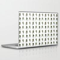 ninja turtle Laptop & iPad Skins featuring Ninja Turtle Pattern by Neal Julian