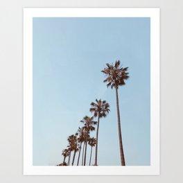 Blue Palm Dream Art Print