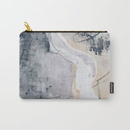 As Restless as the Sea: a minimal abstract painting by Alyssa Hamilton Art Carry-All Pouch