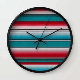 Mexican serape #5 Wall Clock