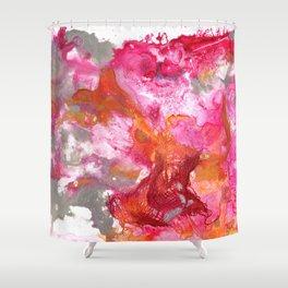 Magenta Explosion Shower Curtain