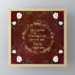 Outlander Wedding Vows Framed Mini Art Print